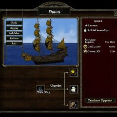 Rigging speed level 1 on War Brig