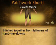 F Patchwork Shorts