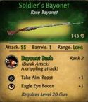 Soldier's Bayonet