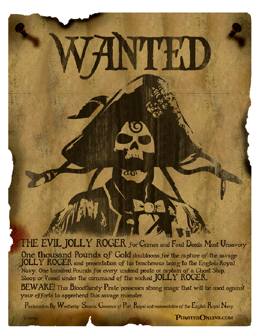 Image jolly pirates online wiki fandom for Wanted pirate poster template