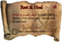 Scroll RestAndHeal