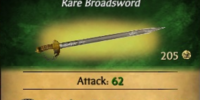 Witch Hunter Broadsword