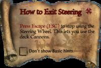 Scroll HowtoExitSteering