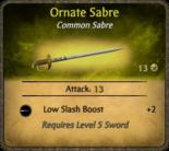 Ornate Sabre Card