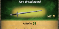 Engraved Broadsword