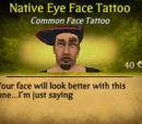 Native Eye Face Tattoo