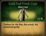 Gold Fad Frock Coat