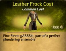 F Leather Frock Coat