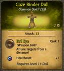 Gaze Binder Doll Card