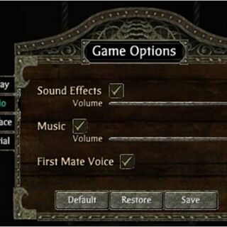 Changing the sound options.