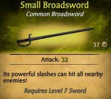 Small Broadsword