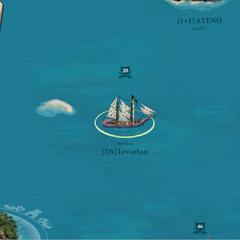 Brigantine sitting at sea