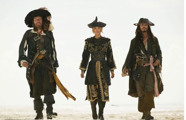 File:Jack Sparrow, Hector Barbossa, And Elizabeth Swann.JPG