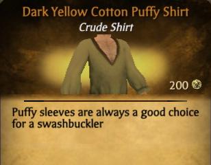File:Dark Yellow Cotton Puffy Shirt.jpg