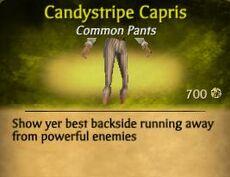 F Candystripe Capris