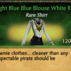 Light Blue Blue Blouse White Ruff