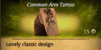 Skull Scroll Arm Tattoo