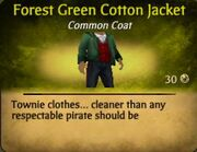 Forest Green Cotton Jacket