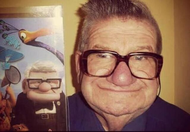 File:Old man from pixar animated movie UP real life cartoon characters funny humor.jpg