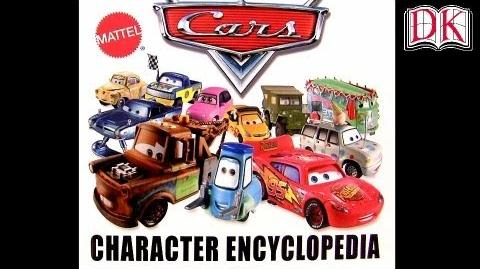 DK Cars 2 Character Encyclopedia Book with Future New Diecast Releases Disney Poster