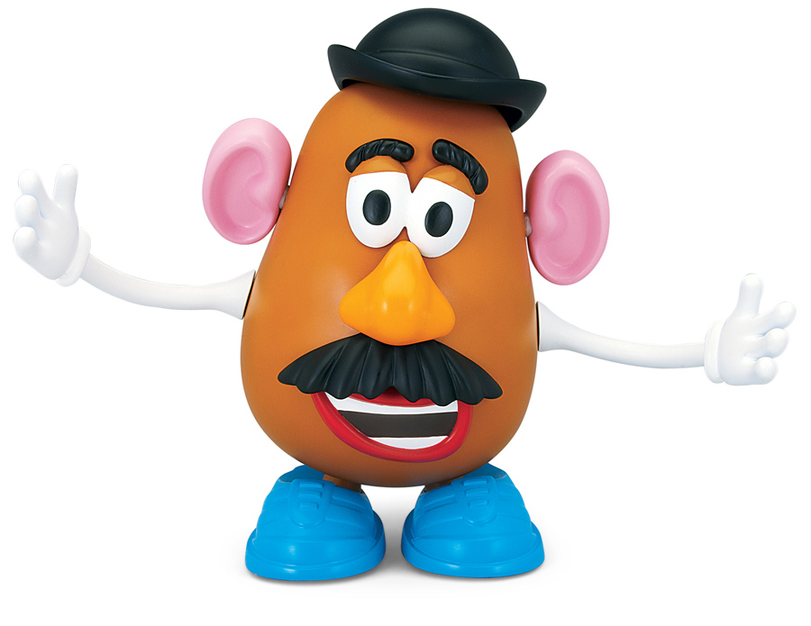 Animated talking mr potato head with part popping action