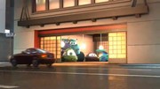 Mike car and sulley truck in tokyo mater