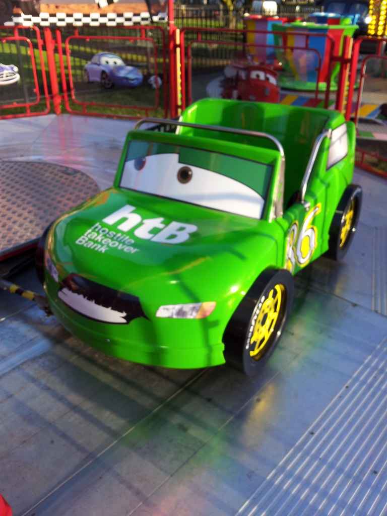 Uncategorized Chick Hicks Cars image chick hicks on race o rama ride jpg pixar cars wiki fandom powered by wikia
