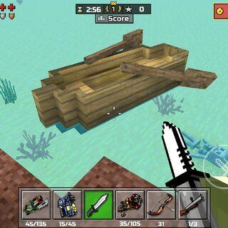 A small boat.