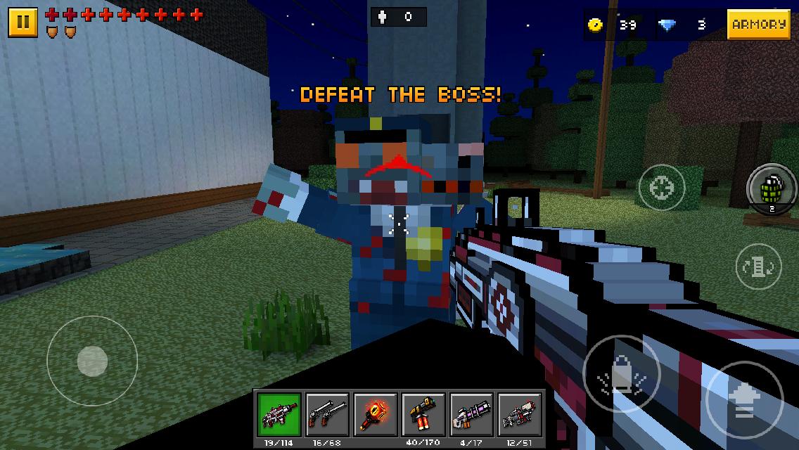 Police Double Headed Zombie Pixel Gun Wiki Fandom