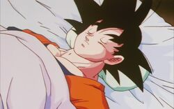 Goku z przyszłości na łożu śmierci