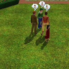 Rodzina Kawaler w parku.