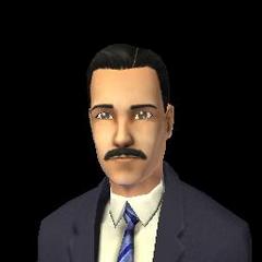 Obraz z SimPE ukazujący Mortimera jako dorosłego