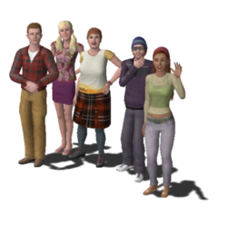 480px-Roomies Household Family (The Sims 3)