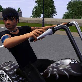 Marc na motorze