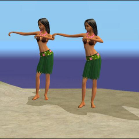 Dwie Tancerki Hula