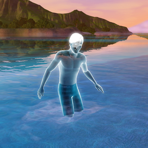 Edward Dregg na plaży w <a href=