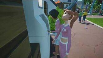 Planet Coaster Gamescom 2016 - Guests Using ATM