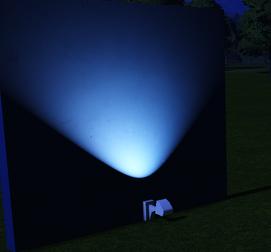 Light - Wall Uplight Small lit