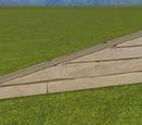 Natural Wood Plank Wall 1m Slope
