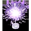 Purple Sparkler Hood Ornament
