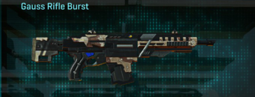 Desert scrub v2 assault rifle gauss rifle burst