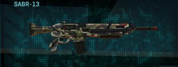 Woodland assault rifle sabr-13