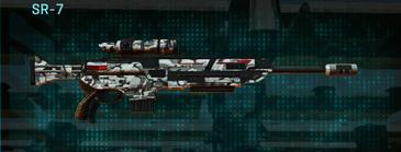 Forest greyscale sniper rifle sr-7