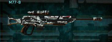 Forest greyscale sniper rifle m77-b