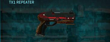 Tr zebra pistol tx1 repeater