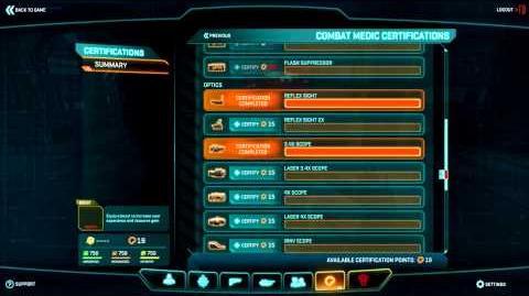 Planetside 2 Basic Training Certification Points