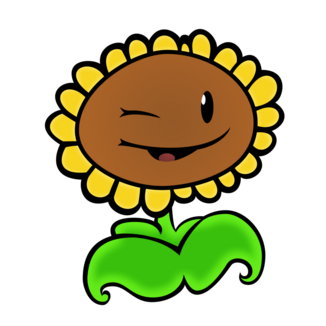 Plants vs zombies sunflower vector by 2bitmarksman-d6ly460 (1)
