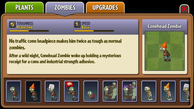 File:Conehead Zombie Almanac Entry.png