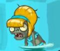 Bikini Zombie in water