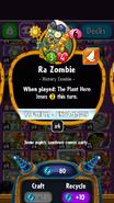 Ra Zombie statistics